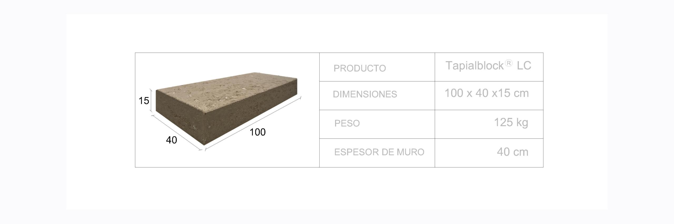 Tapialblock® LC - Fetdeterra