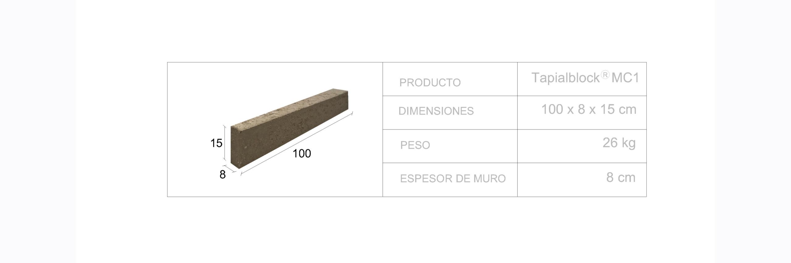 Tapialblock® MC1 - Fetdeterra