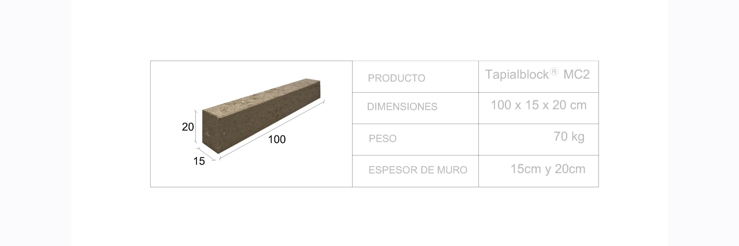 Tapialblock® MC2 - Fetdeterra